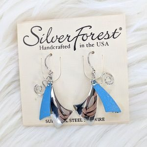 Silver Forest Surgical Steel Handcrafted Earrings